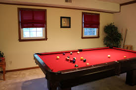 Red Felt Pool Table The Handcrafted Life Come On Over U0027cause We U0027re Now Ready To