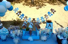 teddy baby shower ideas blue and brown teddy bears baby shower party ideas photo 4 of 26