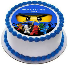 ninjago cake toppers ninjago personalized cake topper icing sugar paper 7 5