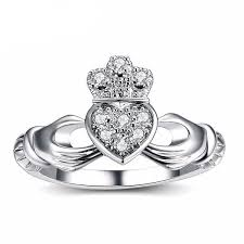 white gold promise rings white gold plated claddagh promise rings just promise rings