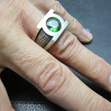 green lantern wedding ring brilliant green lantern mens wedding ring matvuk