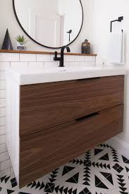 wall mounted sink cabinet ikea bathroom vanity units one hole faucet mosaic ceramic decorating