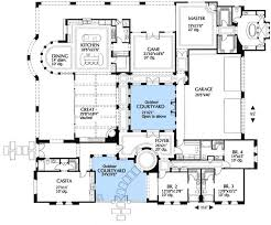 courtyard floor plans courtyard home plans luxury style house plans 5933 square home