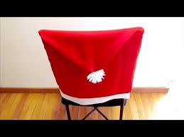 santa hat chair covers diy christmas santa hat chair covers