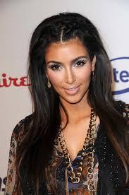 hair front pulled back kim kardashian looks hair front