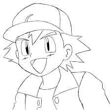 pokemon coloring page of ash and pikachu for you to print and