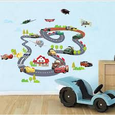Wall Decals Kids Rooms by 90 140cm Sale Toy Story Highway Track Car Wall Stickers Home