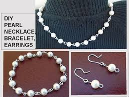 pearl bracelet tutorials images Diy pearl bracelet necklace earrings gift idea easy jpg