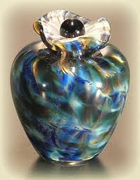 small cremation urns glass keepsake urn