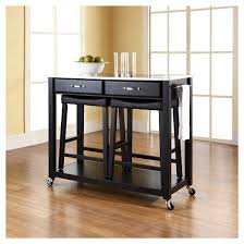 stainless steel top kitchen cart island with stools crosley target