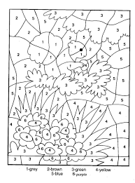free printable color by number coloring pages and by for kids