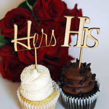 cake toppers cupcake toppers his u0026 hers wedding cupcake toppers