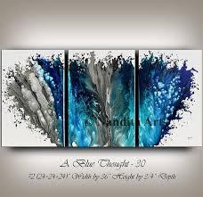 home design ideas nandita blue modern art abstract painting large wall art modern painting