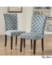 Dining Chair Fabric Savings On Catherine Moroccan Pattern Fabric Parsons Dining Chair