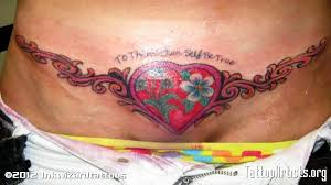 image detail for tummy tuck scar cover tattoo artists org
