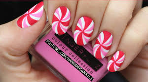 peppermint candy nails youtube