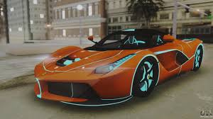 kereta ferrari ferrari laferrari tron edition v1 0 for gta san andreas