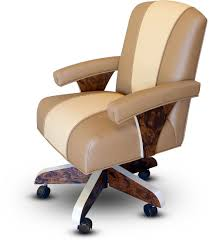Recliner With Wheels Luxury Poker Arm Chair With Casters