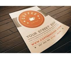 coffee flyer template psd modern light design restaurant flyer