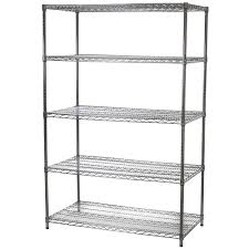 Shelving Units Wire Shelving Unit With Five Shelves 24