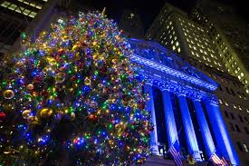 new york stock exchange celebrates 93rd annual tree
