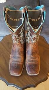 womens square toed boots size 12 the country list country cowboy