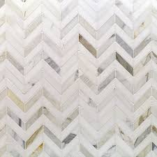 lux chevron marble backsplash is chic and timeless in the master