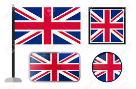 Englang Flag British Flags Simple Vector Icons Set Of England Flags Royalty