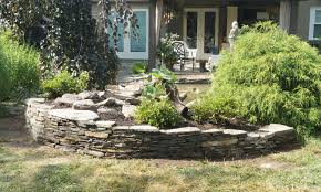 Stone For Garden Walls by Borders And Retaining Walls Premier Ponds Dc Md Va Pond