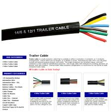 trailer light cable wiring harness 7 wire jacketed black buy