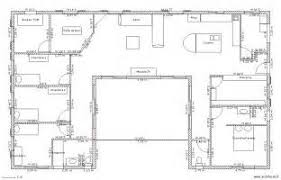 plan maison plain pied en l 4 chambres plan de maison plain pied gratuit