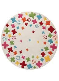 tapis rond chambre bébé tapis rond chambre enfant bloom field blanc de la collection esprit
