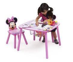 Play Table With Storage And Chairs Amazon Com Disney Minnie Mouse Storage Table And Chairs Set Delta