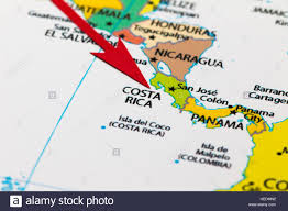 Map Of Sounth America by Red Arrow Pointing Costa Rica On The Map Of South America