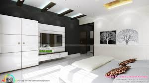 master bedrooms dining home theater interiors kerala home