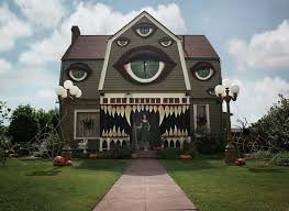 artist turns parents home into haunted house straight out of a tim