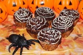 apy cooking spider web mini muffins cupcakes for halloween