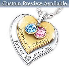 photo engraved necklace womens necklace forever always personalized diamond pendant