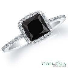 princess cut black engagement rings engagement ring 160 carat black by goeltaladiamondsinc