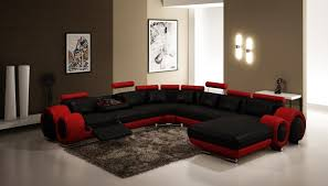 Dark Red Sofa Set Classy 60 Brown And Red Living Room Ideas Design Decoration Of