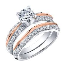 pink rings gold images Brilliant gold jewellery engagement ring 18k white and pink jpg