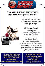 xp laser sport lasertag and arcade in laurel maryland now hiring