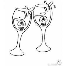 disegni bicchieri disegno di brindisi da colorare per bambini
