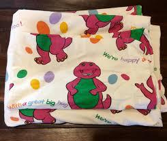 1992 barney flat sheet pillow case barney dinosaur