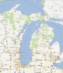 map of michigan lakes chicago map lake michigan