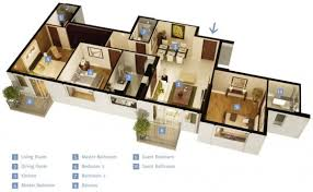 3 bedroom house plans one story 3 bedroom apartment house plans