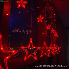 Halloween Window Lights Cheap Wholesale Article Ice Star Light Size Five Star Wedding