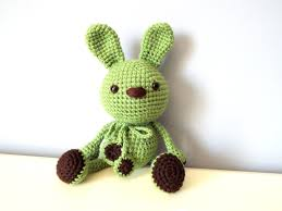 rabbit home decor crochet handmade green bunny rabbit amigurumi home decor kids baby