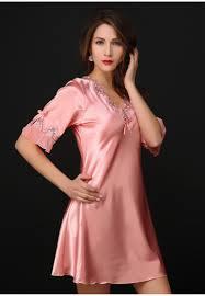 women nightwear long robe pink silk robe woman nightwear silk gown