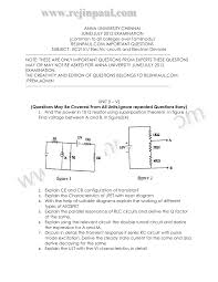 ec2151 eced important questions 2 marks notes question papers